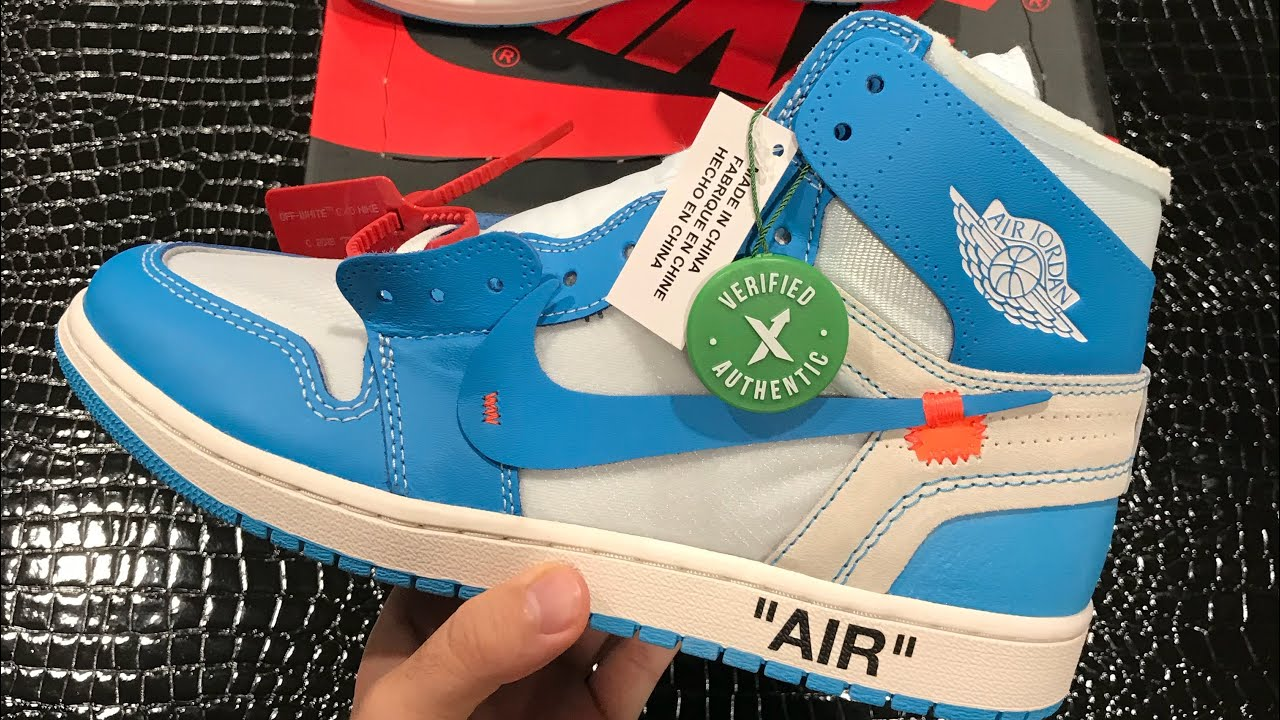 4ea6cd87 StockX Off White Jordan 1 UNC unboxing / Are They Legit?! - YouTube