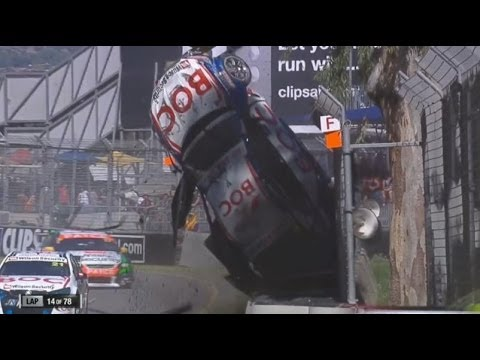 2014 V8 Supercars - Adelaide - Race 3 - Jason Bright Roll - Natural Sound [HD]