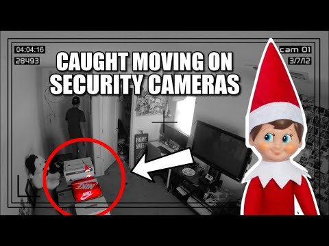 Elf On The Shelf Caught Moving On Security Cameras Youtube