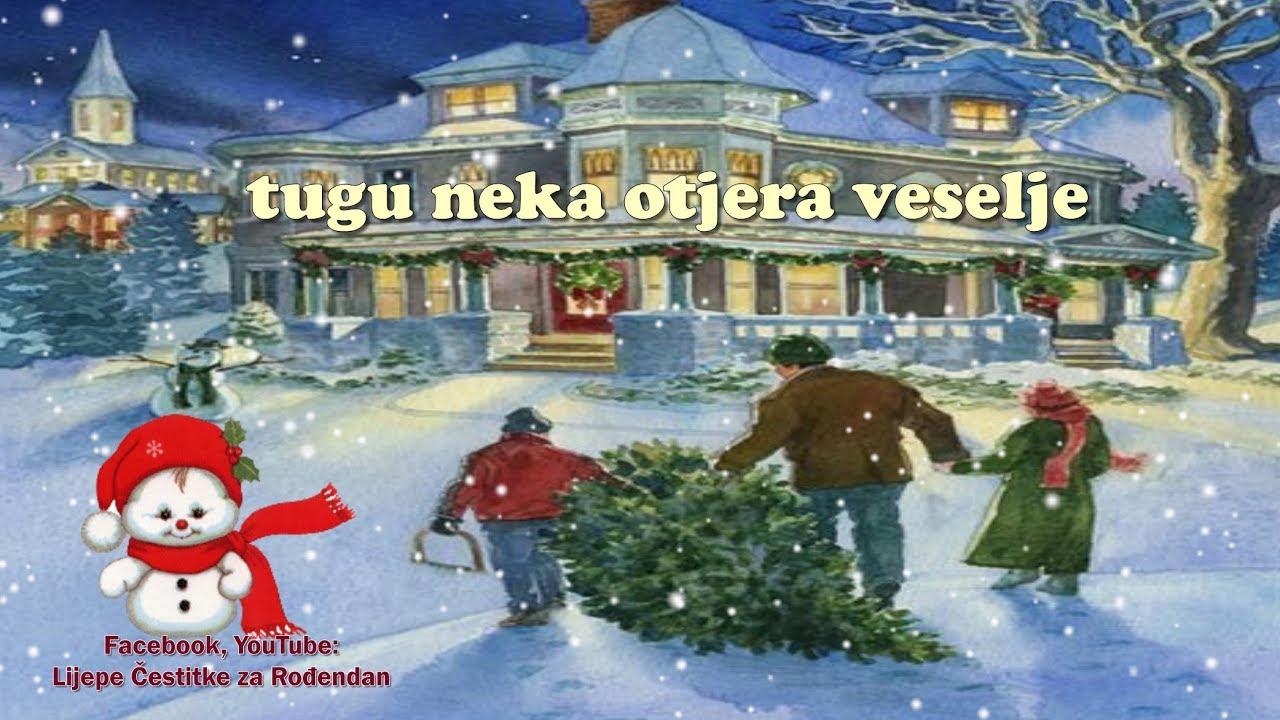 vesele božićne čestitke Sretan Božić 🌲❤   YouTube vesele božićne čestitke