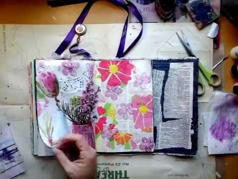 Journaling with magazine image- process/Joernaal blad met tydskrif prent-proses