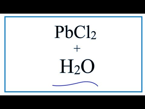 Equation For PbCl2 + H2O     |  Lead (II) Chloride + Water