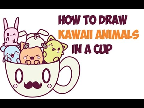 How To Draw Kawaii Animals And Characters Cute In A Cup Easy Step