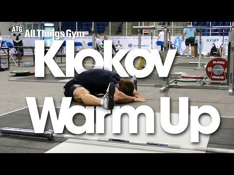 Dmitry Klokov Warm Up Almaty 2014 Wold Championships Training Hall