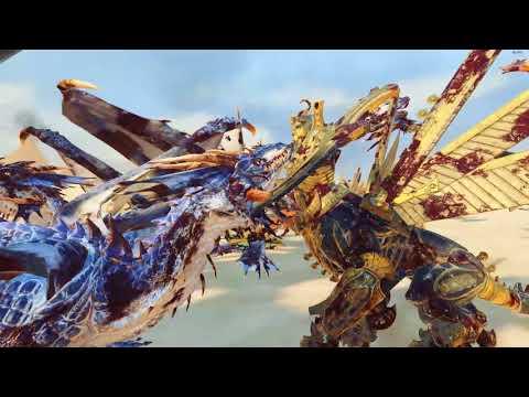 30 Necrosphinx VS 40 Dragons - Tomb Kings - Total War: Warhammer 2
