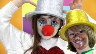 KIDS MAKEUP - Clown makeup for kids and freddy five nights at freddys