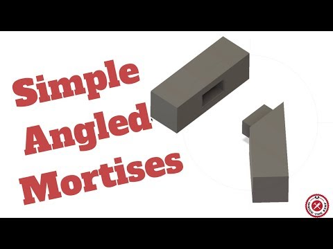 Fusion 360 for Woodworking-Super Simple Angled Mortises In Minutes