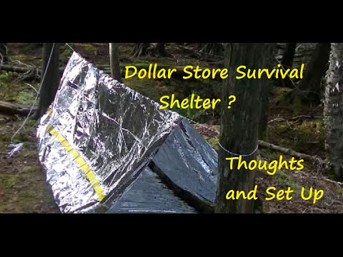 Dollar Store Survival Shelter?  Thoughts And Set Up
