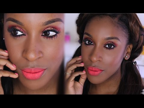 Spring Tangerine Orange Makeup Look | Jackie Aina thumbnail