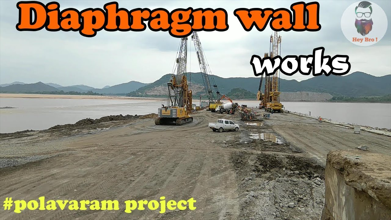 Polavaram Project Diaphragm Wall Works Oct 2017 Youtube