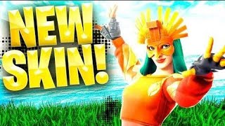 PLAYING WITH THE NEW SKIN *SOLAR AVE* IN FORTNITE!