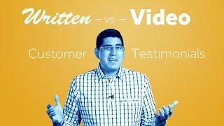 Video Written vs. Video Customer Testimonials download MP3, 3GP, MP4, WEBM, AVI, FLV Juni 2018