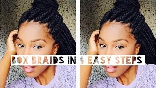 Kudzy Peps | How I achieve Box Braids in 4 Easy Steps