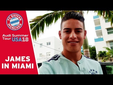 On Tour in the Streets of Miami w/ James Rodríguez | FC Bayern
