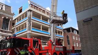 Bouwongeval op hoogte bij de Rode Weeshuisstraat Groningen