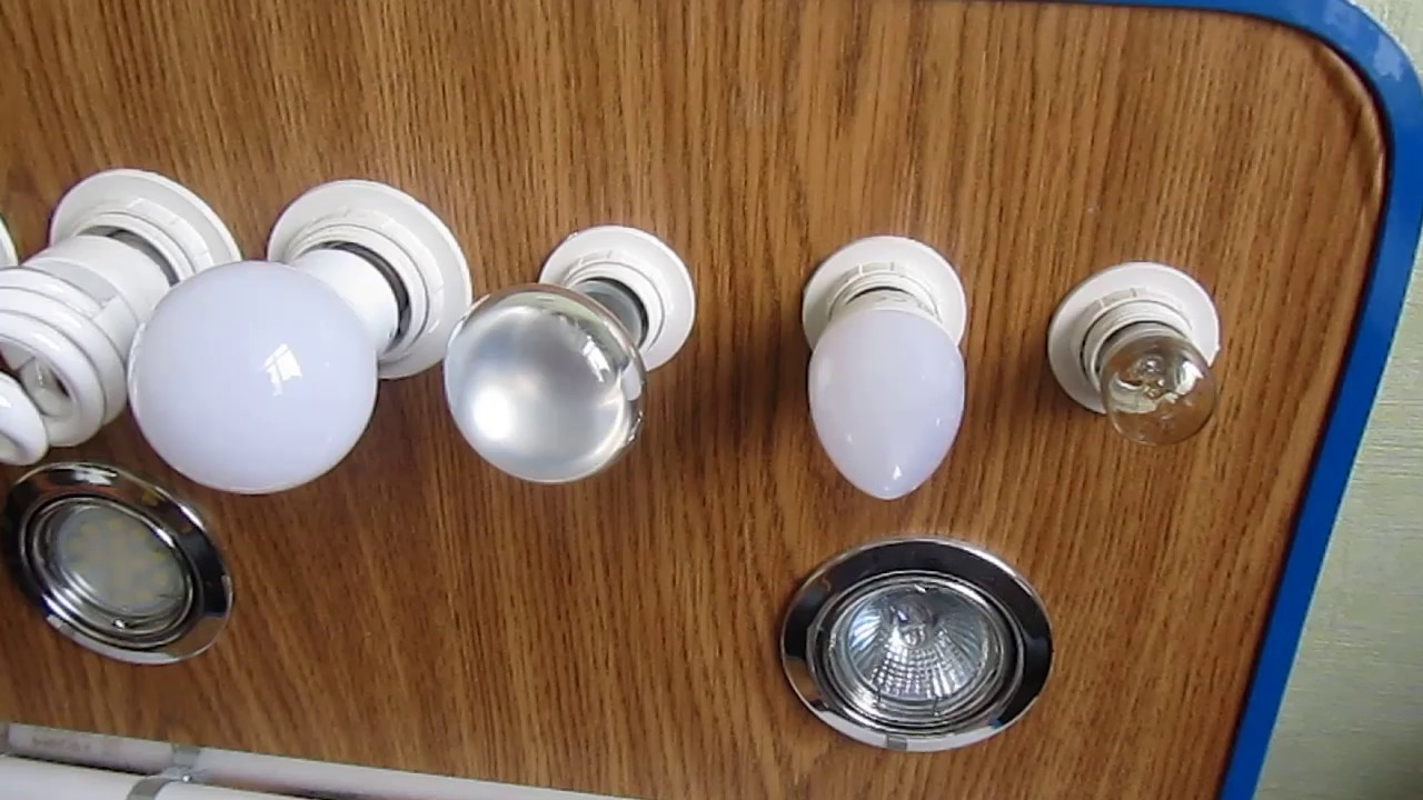 Сравнение ламп накаливания, галогеновых, энергосберегающих и светодиодных