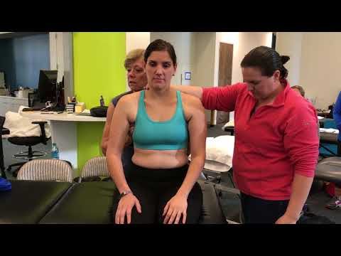 Thorax driven neck control impairment for arm elevation task