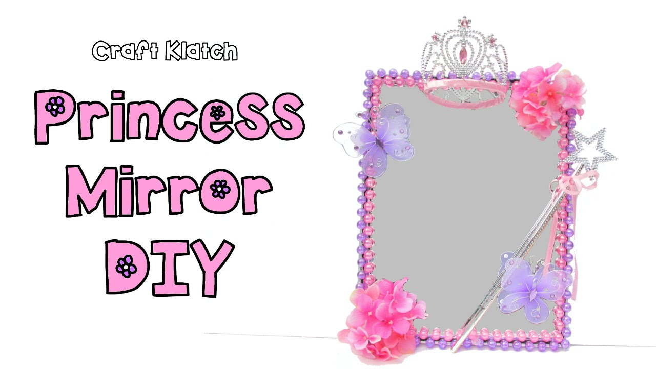 DIY Princess Room Decor Mirror   Dollar Store Craft Collaboration With  Mommy Crafts A Lot!   YouTube