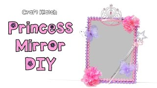 Diy Princess Room Decor Mirror Dollar Store Craft Collaboration With Mommy Crafts A Lot Youtube