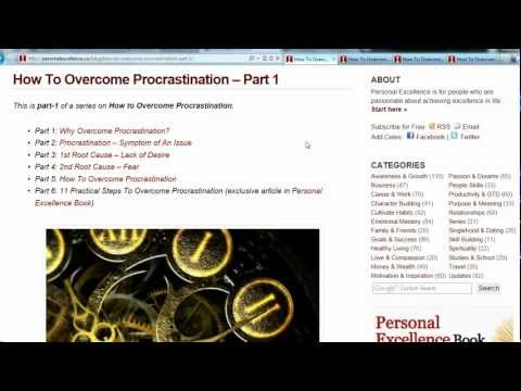 How To Overcome Procrastination | PersonalExcellence.co