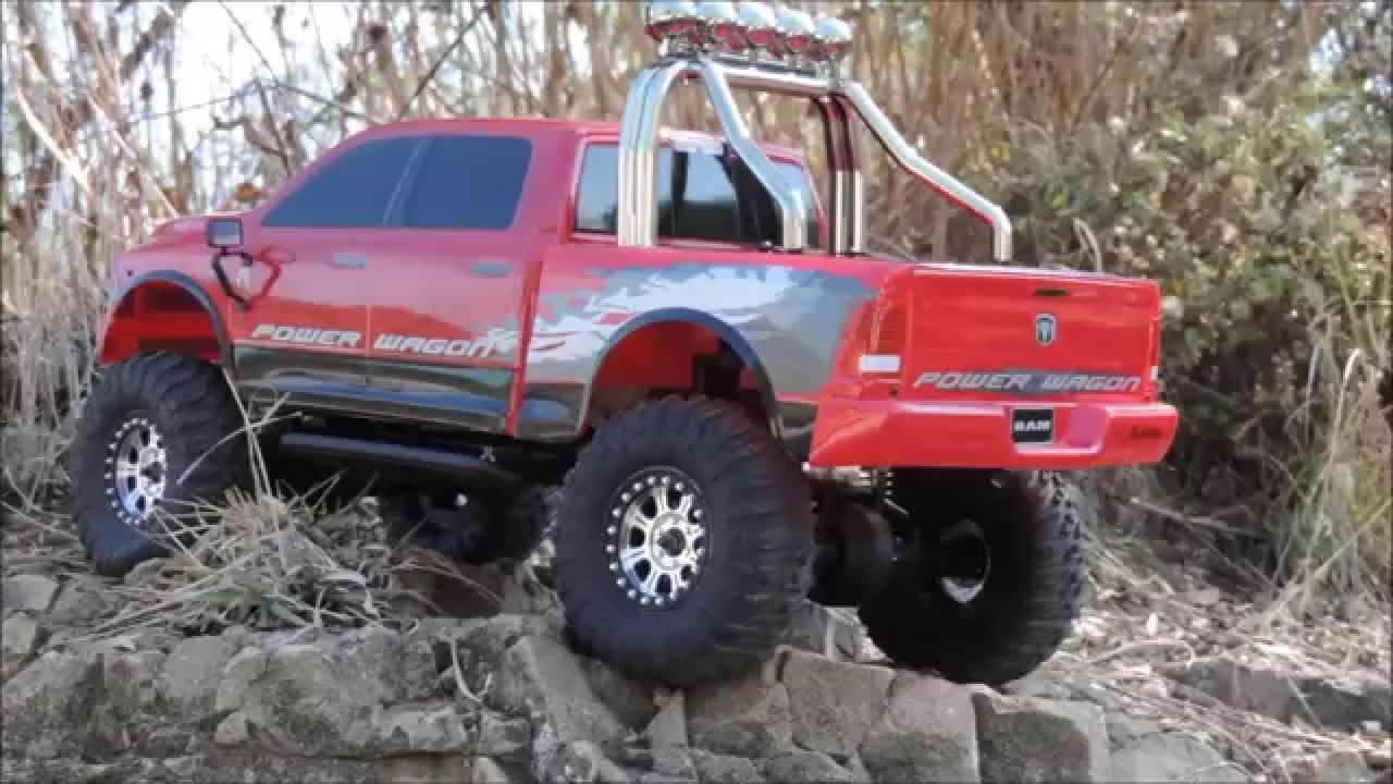 Ram Power Wagon For Sale >> rc 4x4 axial ram power wagon - YouTube
