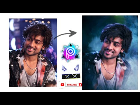 Actor Suriya | PicsArt Glowing Oil effect | Digital Art or Oil painting |How to  Smudge like pro | 🔴