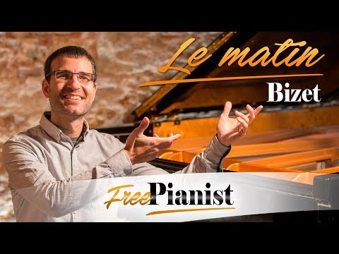 Le matin - KARAOKE / PIANO ACCOMPANIMENT - Op.21 n.2 - Bizet