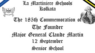 The 185th Commemoration of our Founder (Senior School)