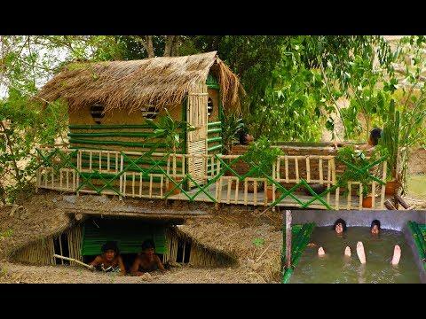 Dig To Build Underground House \u0026 Swimming Pool And Build  House \u0026 Swimming Pool On Underground House