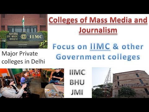 IIMC || JMI || BHU || Top Colleges Of Journalism Mass Communication || Media || Government Colleges