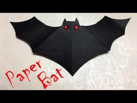 DIY: Halloween Decorations   Paper Bat   Easy Crafts for Kids