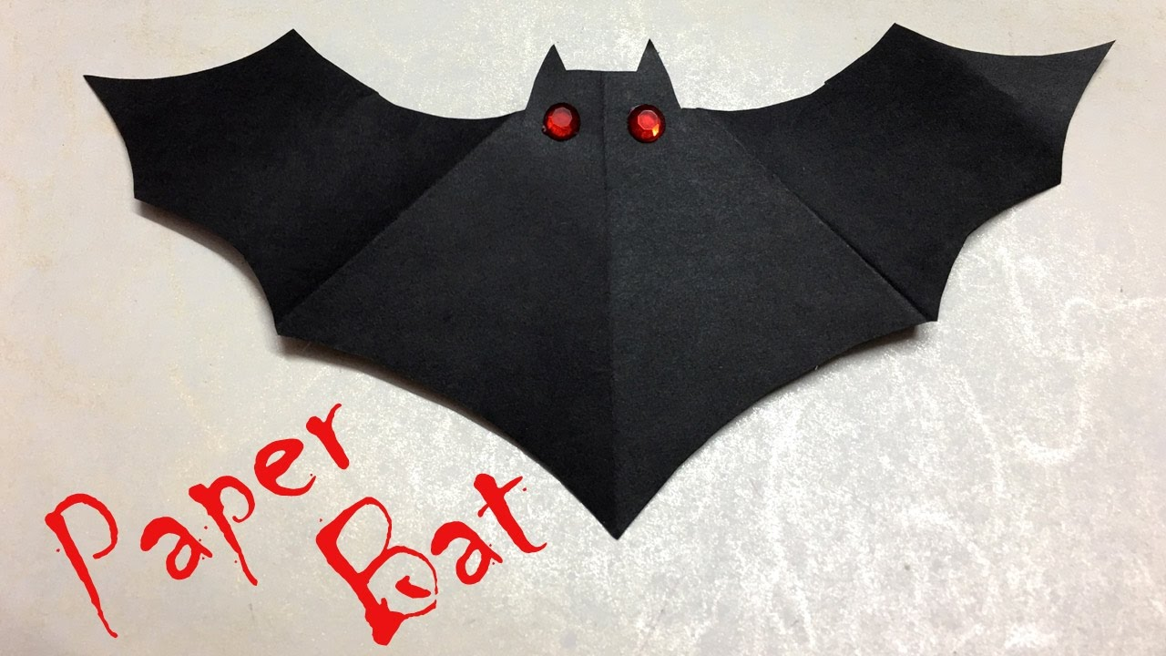 diy halloween decorations paper bat easy crafts for kids youtube - Halloween Bat Decorations