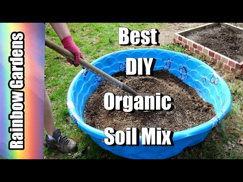 DIY The Best Organic Raised Bed or Potting Soil Mix - How to Make Mel's Mix | THE GARDEN