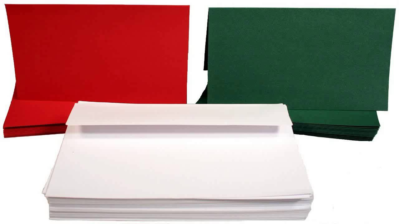50 Blank Greeting Cards Envelopes 5x7 A7 White Youtube