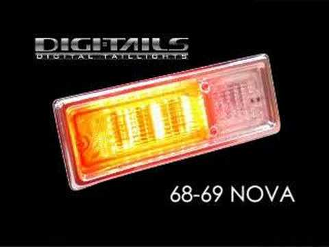Digi Tails 1968 69 Nova Sequential Led Tail Lights Youtube