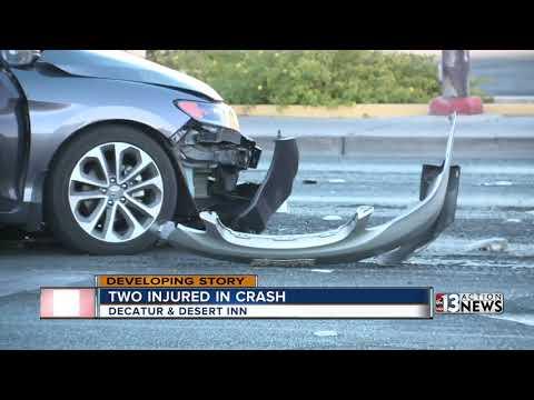 Crash near Decatur and Desert Inn Road