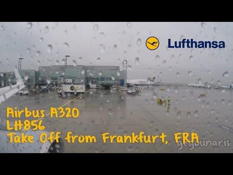 Take Off from Frankfurt, Lufthansa flight LH856, to Keflavik/ Reykjavik, Airbus A320