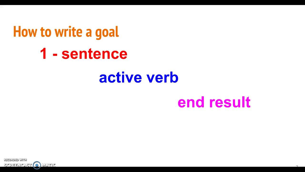Instructional Goals And Objectives Youtube