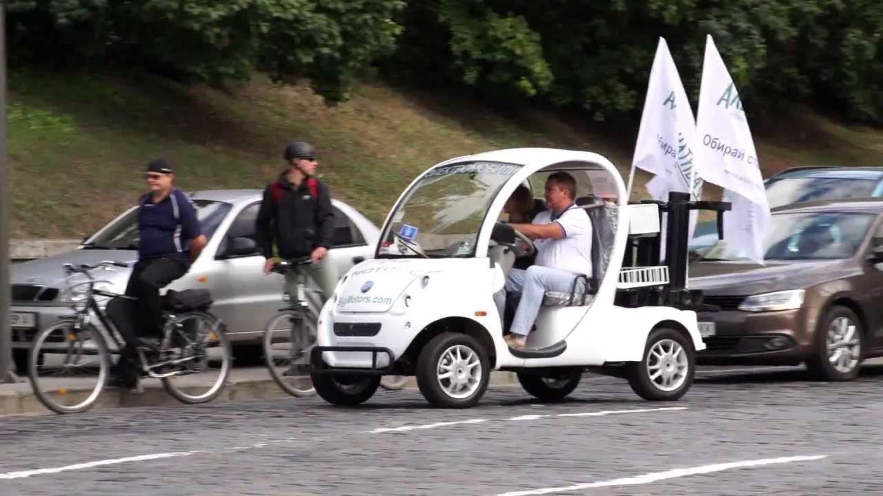 Время энергетической независимости на Майдане с электромобилями BIO AUTO.