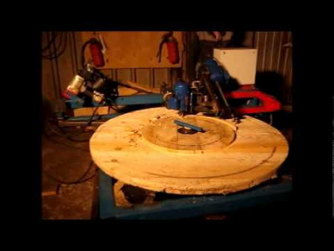 видео: Станок производства щек кабельных барабанов №8-14