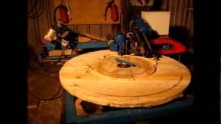 Станок производства щек кабельных барабанов №8-14(Станок для производства деревянных щек кабельных и канатных барабанов. На станке выполняются: опиловка..., 2013-06-20T11:17:29.000Z)