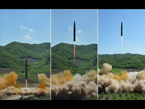 NORTH KOREAN NUCLEAR ALERT - ICBM Hwasong-14 Missiles test firing