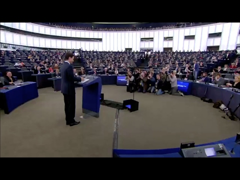 Justin Trudeau addresses EU Parliament, says benefits of trade must be shared widely