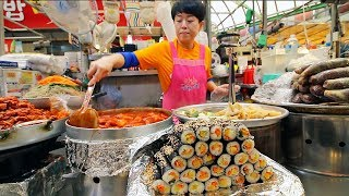 KOREAN STREET FOOD - Gwangjang Market Street Food Tour in Seoul South Korea | BEST Spicy Korean Food Mp3