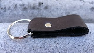 Making a simple leather keychain. Step by step