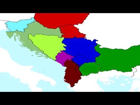 balkán térkép Egy kicsit másabb Balkán térkép   YouTube balkán térkép