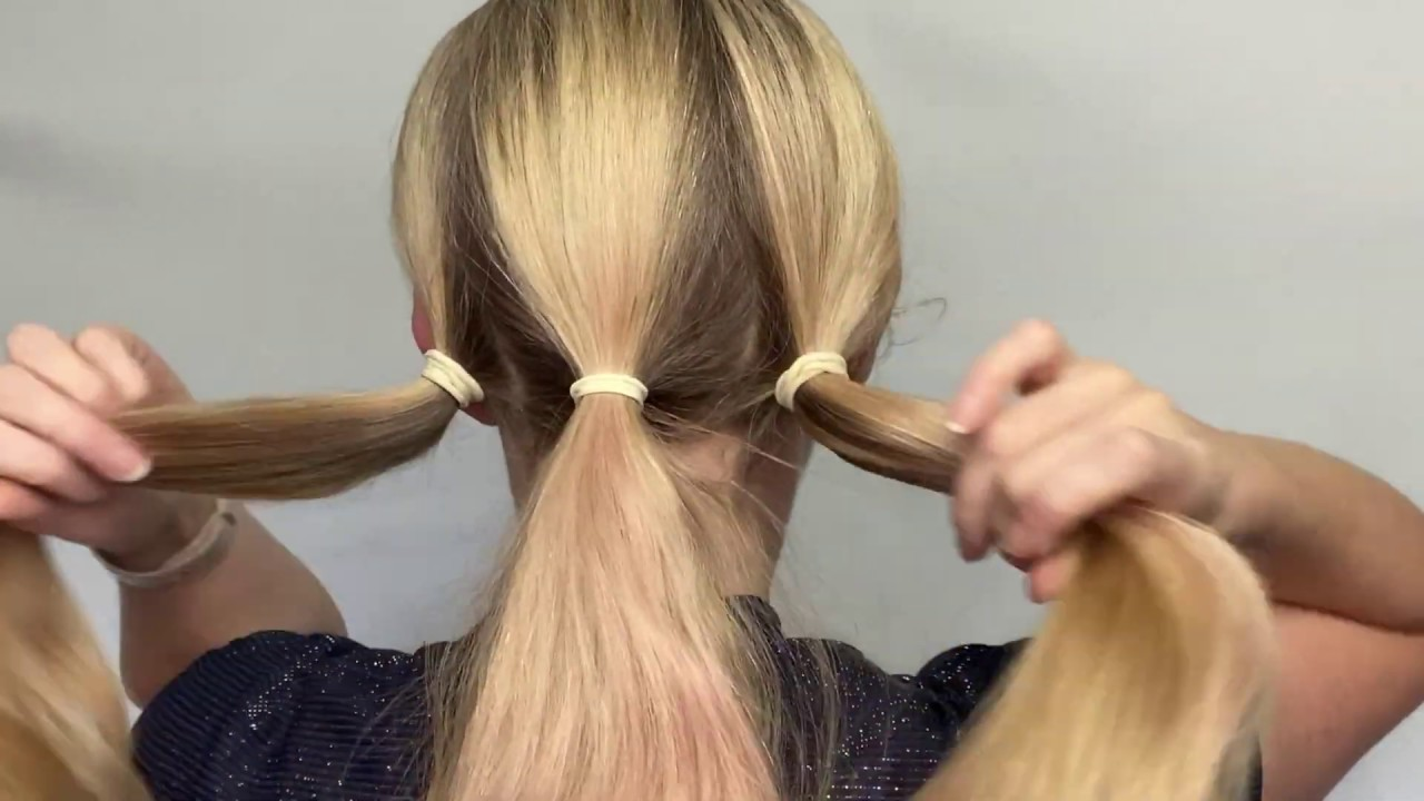EASY UPDO FOR THICK HAIR   THICK HAIR HACKS