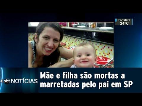 Homem é preso acusado de matar esposa e filha a marretadas em SP | SBT Notícias (13/07/18)