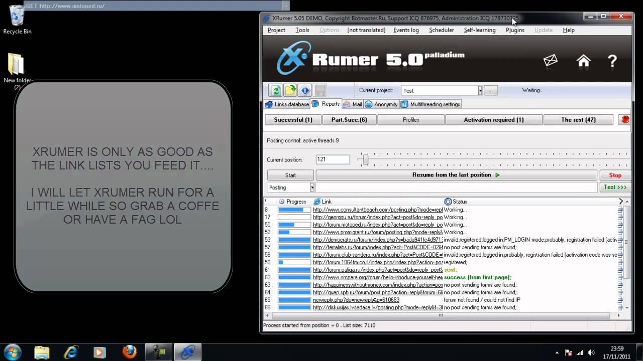 Xrumer 5.05 new 2011 version узнаваемости компании планируется сокращение расходов продвижение детальный бюджет предст