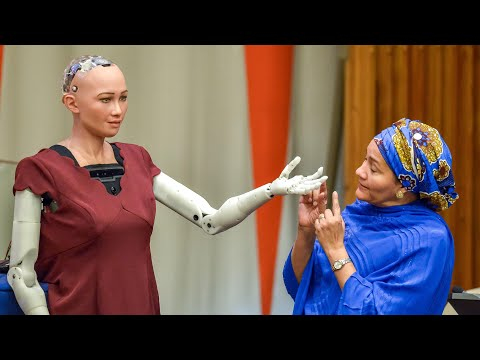 Sophia the robot tells UN: I am here to help humanity create the future